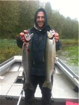 Rusher with a limit of Steelhead