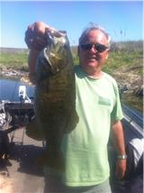 Dad with another May 2011 smallie