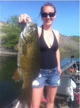 Kimberly with a PIG smallie 5-2011