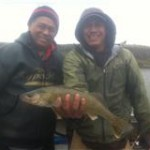Tyson and Dad nice walleye