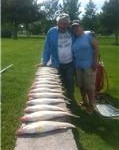 Leo and Debbie Meyers Potholes walleye slaying