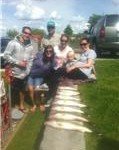 Memorial Day walleye feed Shane, Christina, Stacey, Bobby, Courtney, Moore