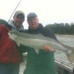 Mike Carter and Alex sky river steelhead